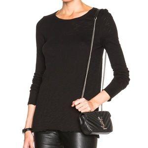 ATM Distressed Long Sleeve Slub Cotton T Shirt M
